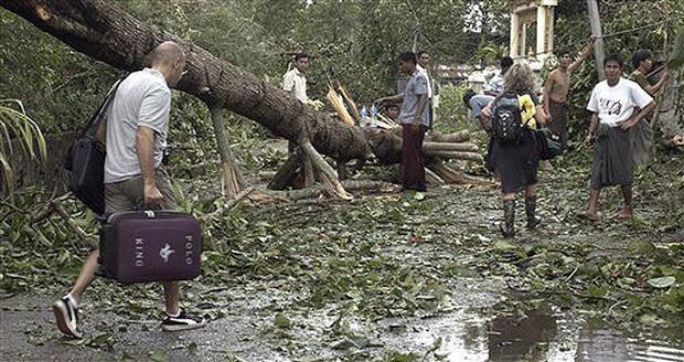 Cyclone Slams Myanmar