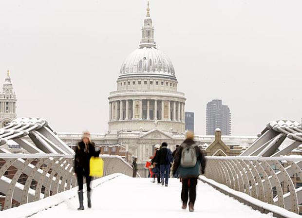 Snow Snarls Europe's Capitals