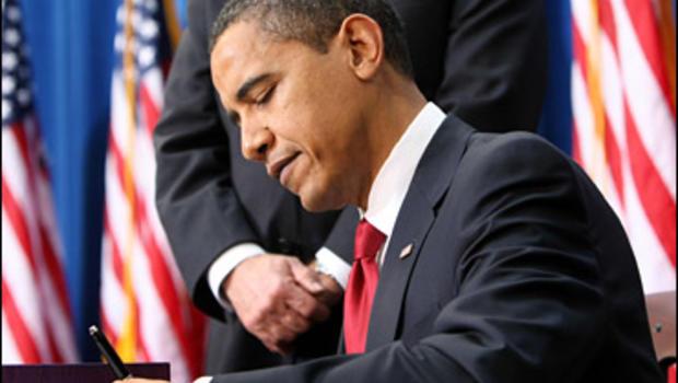 Obama Signs Stimulus Plan Into Law - CBS News