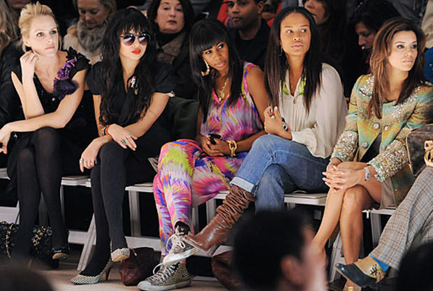 Celebs In The Front Row
