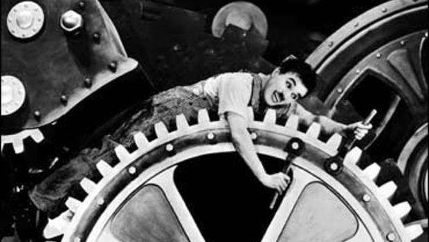 "Charlie Chaplin in ""Modern Times"" (1936)"