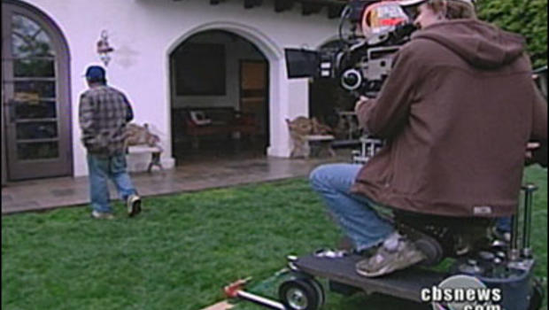 movie filming at a home