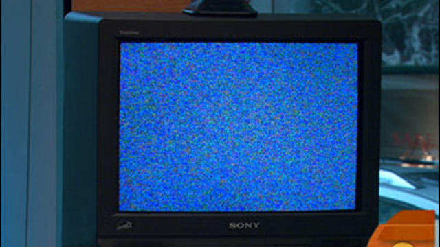 Blank television screen