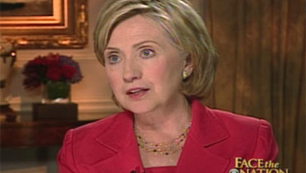 "Secretary of State Hillary Rodham Clinton on ""Face the Nation."""