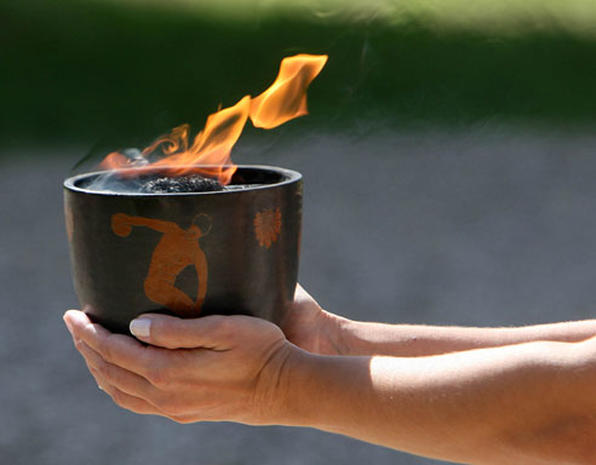 Vancouver's Olympic Flame Ignited