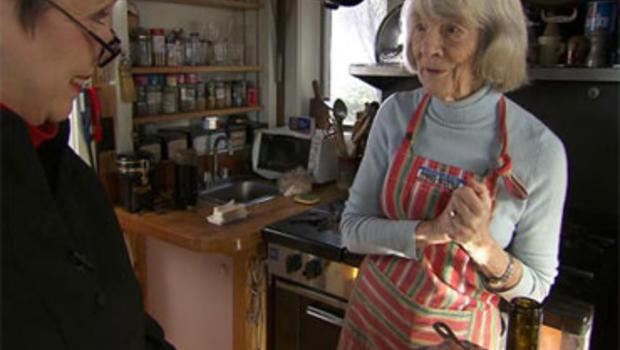 Cookbook editor and author Judith Jones with Martha Teichner
