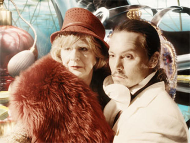 "Johnny Depp and Maggie Steed in ""The Imaginarium of Doctor Parnassus,"" a fantasy film by Terry Gilliam."