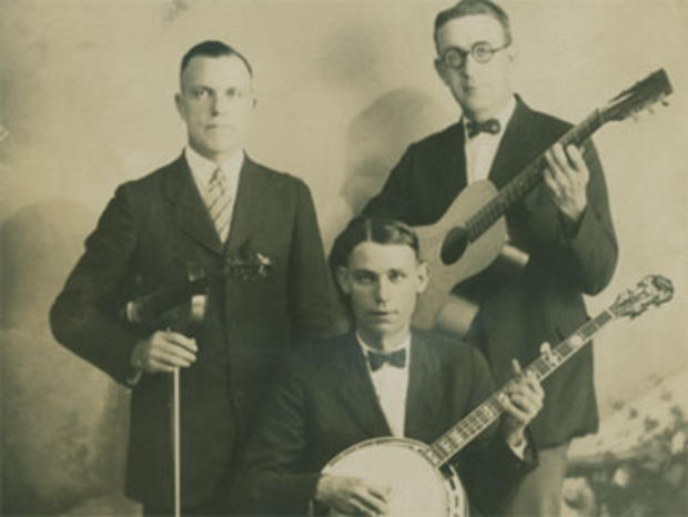 Banjo player Charlie Poole, foreground, with Posey Rorer and Roy Harvey of the North Carolina Ramblers.