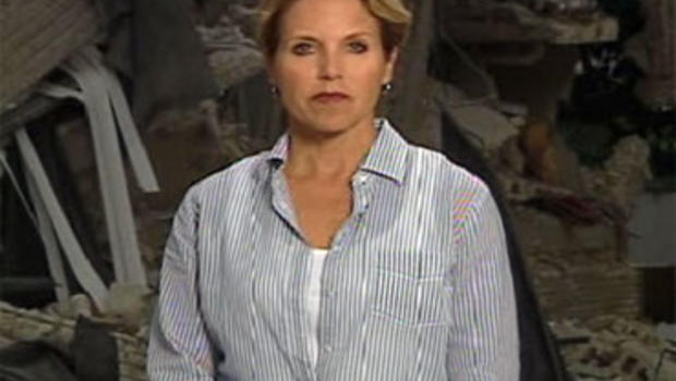 CBS Evening News anchor Katie Couric reports from Port-au-Prince, Haiti on Thursday, Jan. 14.