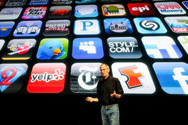 With thousands and thousands of Apps available in Apple's App Store, an iPhone can quickly become inundated with pages and pages of icons. In OS 4, users will be able to organize groups of Apps into folders.