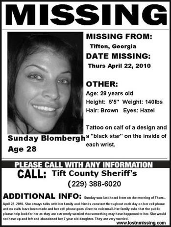 Sunday Blombergh Missing