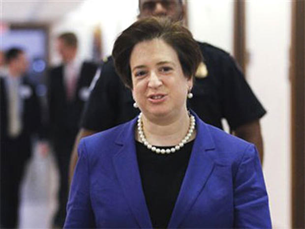 Supreme Court nominee Elena Kagan walks on Capitol Hill in Washington in this photo taken May 20, 2010. Kagan, a Supreme Court nominee without judicial experience, has suggested in writings and speeches over a quarter-century that when judges make decisio