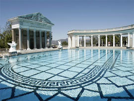 The Neptune pool at Hearst Castle, the legendary home built by publishing tycoon William Randolph Hearst in San Simeon, Calif. on Tuesday, Sept. 2, 2008.