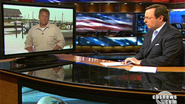 Anthony Mason asks Don Teague a viewer question on the CBS Evening News June 12, 2010.