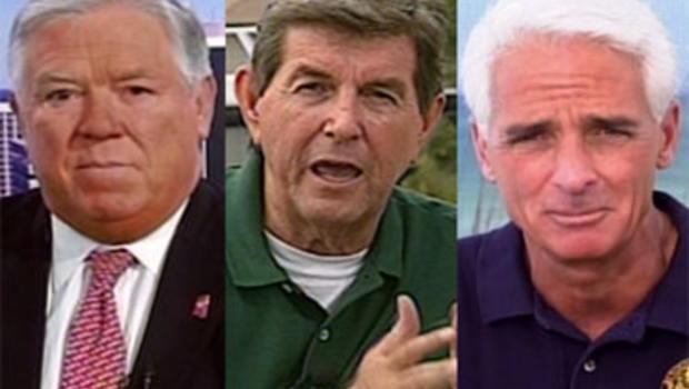 """Gov. Haley Barbour, R-Miss., Gov. Bob Riley, R-Ala., and Gov. Charlie Crist, R-Fla., on """"Face the Nation,"""" June 13, 2010."""