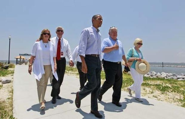 Obama Visits the Gulf Coast
