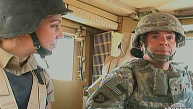General Ben Hodges (right) hopes that checkpoints will stop the flow of weapons, drugs and insurgents into and out of Kandahar.