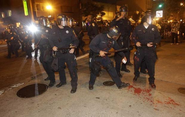 BART Shooting Verdict Unrest CBS News