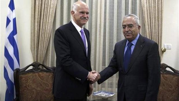 George Papandreou, Salam Fayyad