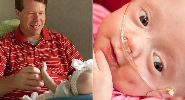 Jim Bob Duggar and baby Josie Brooklyn Duggar.