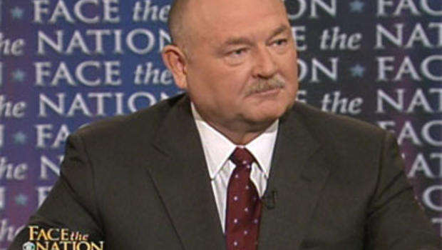 "Retired U.S. Coast Guard Admiral Thad Allen on ""Face the Nation,"" Aug. 8, 2010."