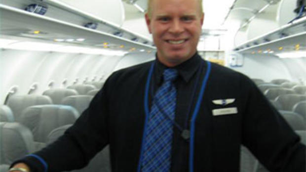 angry jetblue attendant exits plane on slide