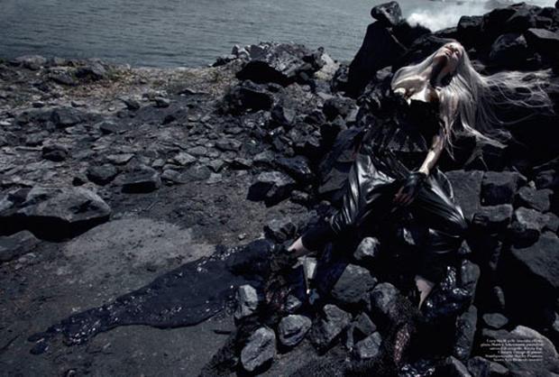 Vogue Italia's Oil-Inspired Fashion Shoot