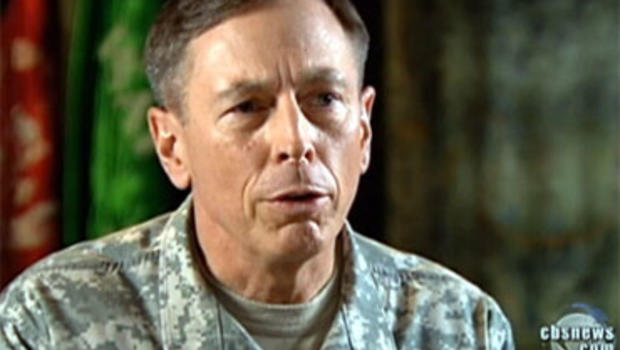 "Army Gen. David Petraeus talks with ""CBS Evening News"" Anchor Katie Couric Aug. 20, 2010."