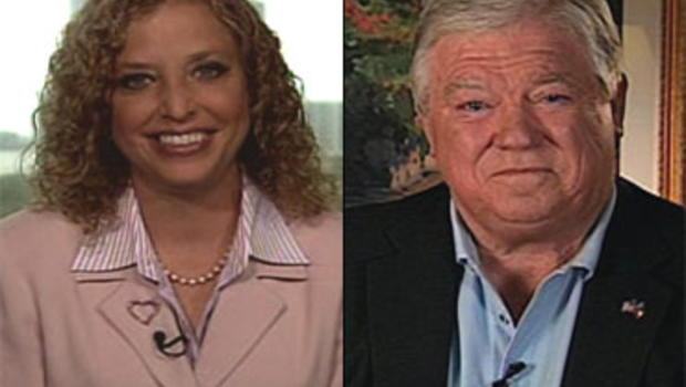 """Rep. Debbie Wasserman Shultz, D-Fla., and Mississippi Governor Haley Barbour on """"Face the Nation."""""""