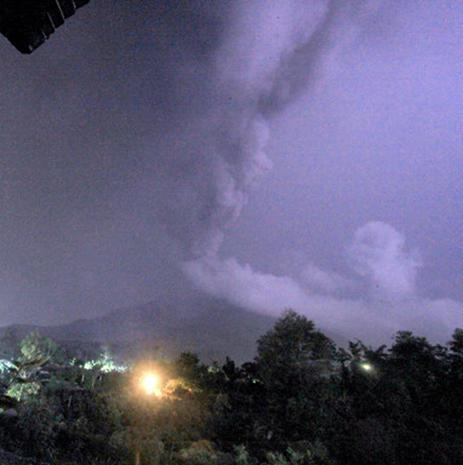 Mount Sinabung Erupts