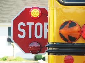 school bus, stop