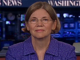 Elizabeth Warren on the CBS Evening News.