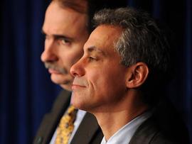 Rahm Emanuel and David Axelrod