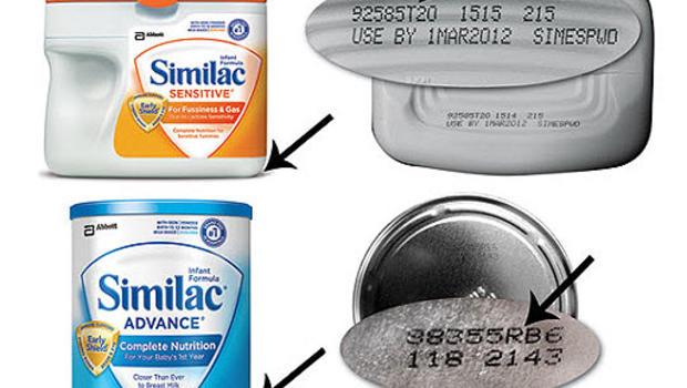 Similac recalled baby formula.