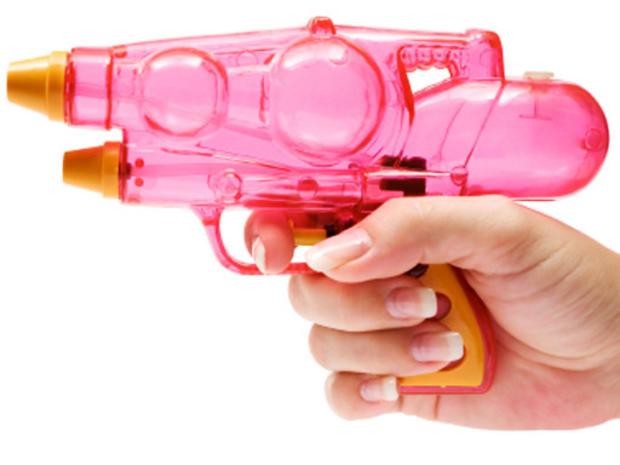 water pistol, gun, toy, pink