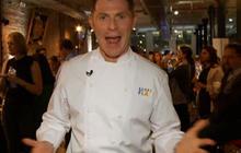 Bobby Flay Visits N.Y. Food Festival