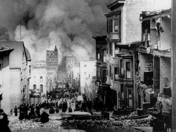 Sacramento Street, April 1906.