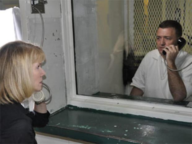 Erin Moriarty interviews Matt Baker at the Polunsky Unit in Livingston, Texas