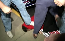 Rand Paul Supporters Step on Protester's Head