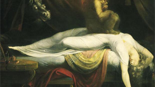 """The Nightmare"" (1781) by Swiss painter Johann Heinrich Fussli (1741–1825)."