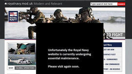 Britain's Royal Navy Website Hacked, Shut Down