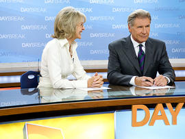 """In this film publicity image released by Paramount Pictures, Diane Keaton, left, and Harrison Ford are shown in a scene from """"Morning Glory."""" (AP Photo/Paramount Pictures, Macall Polay)"""
