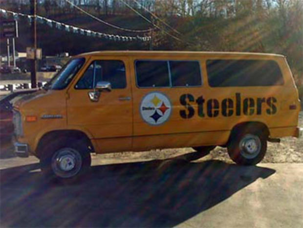 Steeler-Styled Van Used to Serve Warrants in Pa.