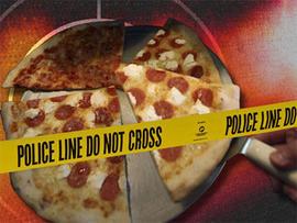 Crime scene pizza