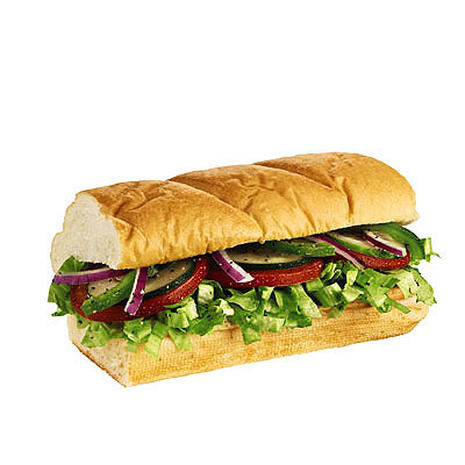 6-Inch Veggie Delite with Swiss (Subway) - America's Healthiest Mall Food - Pictures - CBS News