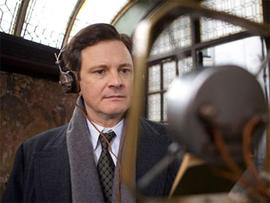 """Colin Firth as the British monarch King George VI, in """"The King's Speech."""""""