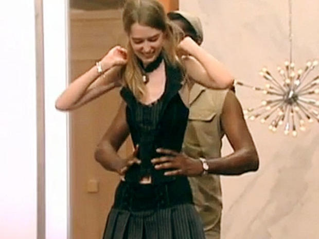 Ann Ward, American's Next Top Model, winner has a waist so small a man could fit his hands around it.