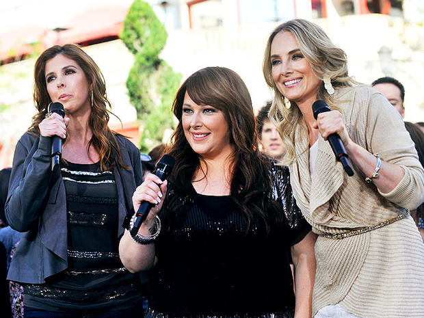 Wendy Wilson, Carnie Wilson and Chynna Phillips of the group Wilson Phillips perform Nov. 9, 2010 in Los Angeles.