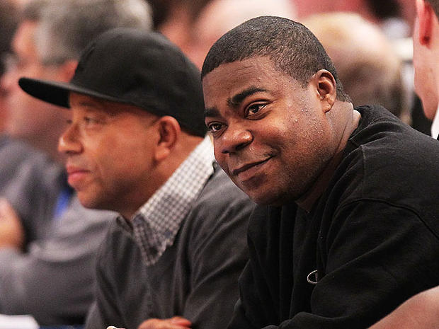 tracy morgan watching the game