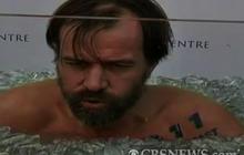 """""""Iceman"""" Seeks Icebath Record"""